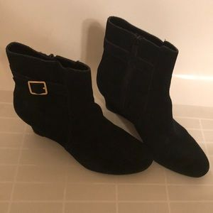 Cole haan grand os black suede ankle boots